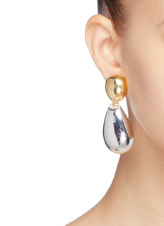 KENNETH JAY LANE 镀金银金属夹耳式耳环