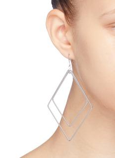 Kenneth Jay Lane Diamond shaped hoop drop earrings