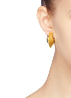 KENNETH JAY LANE 几何圆环镀金夹耳式耳环