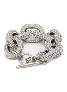 Kenneth Jay Lane Glass crystal interlocking link chain bracelet
