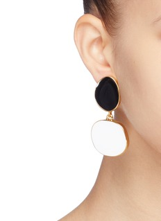 Kenneth Jay Lane Abstract drop clip earrings