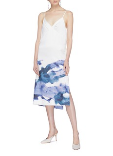 Patricia Iglesias Abstract print wrap dress