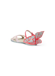 Sophia Webster 'Chiara Mini' butterfly appliqué glitter toddler sandals
