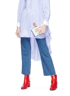 Cecilia Ma 'Cute' slogan acrylic box clutch
