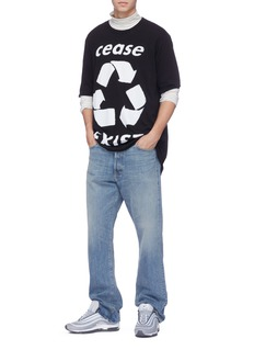 FAITH CONNEXION cease EXIST回收标志印花纯棉T恤