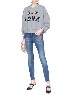 Dolce & Gabbana Heart appliqué skinny jeans
