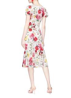 Dolce & Gabbana Floral print fishtail silk dress