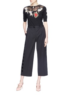 Dolce & Gabbana Button outseam culottes