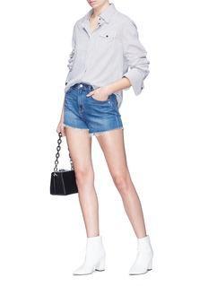 L'Agence 'Ryland' frayed cuff denim shorts