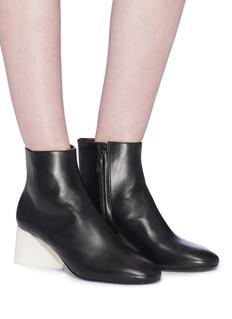 Mercedes Castillo 'Kyler' sculptural heel leather ankle boots