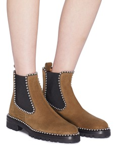 Alexander Wang  'Spencer' ball chain trim suede Chelsea boots