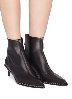 Alexander Wang  'Eri' ball chain trim leather ankle boots