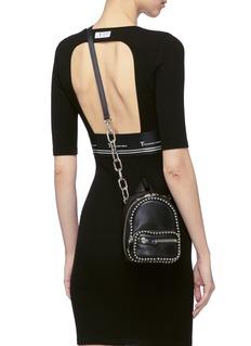 Alexander Wang  'Attica' ball chain trim mini leather crossbody backpack