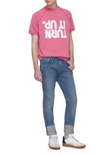 Maison Margiela 'Turn It Up' slogan print short sleeve sweatshirt