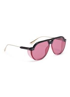 Dior 'Dior Club 3' optyl brow bar spoiler aviator sunglasses