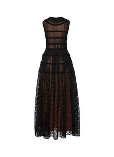 Alaïa Guipure lace skirt tiered plissé pleated knit dress
