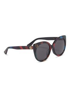 Gucci Glitter stripe acetate cat eye sunglasses