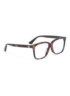 Gucci Glitter stripe acetate square optical glasses