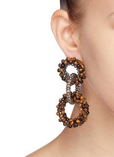 Rosantica 'Carrarmato' beaded interlocking hoop earrings