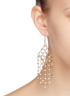 Rosantica 'Surreale' geometric lattice fringe drop earrings