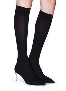 RENÉ CAOVILLA 仿水晶鞋跟尖头针织袜靴