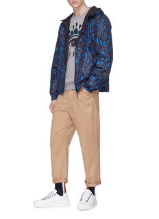 KENZO Leopard print reversible windbreaker jacket