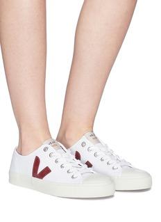 VEJA WATA V字拼贴有机棉帆布运动鞋