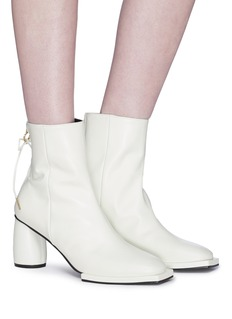 REIKE NEN Bow zip leather ankle boots