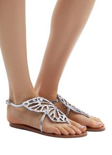 Sophia Webster 'Bibi Butterfly' glitter wing leather sandals