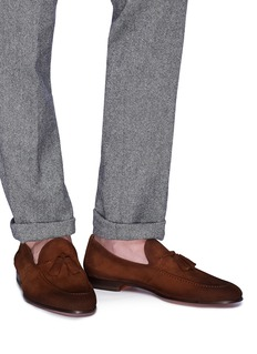 Magnanni Tassel suede loafers