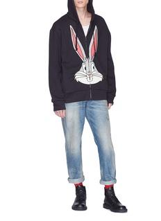Gucci 'Bugs Bunny' logo print zip hoodie