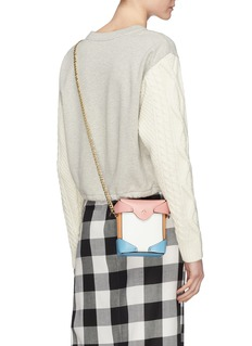 MANU Atelier 'Pristine' colourblock micro leather crossbody bag