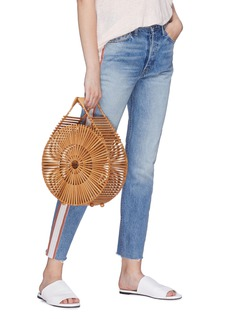 Cult Gaia 'Zaha' round bamboo caged bag