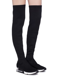 Ash 'Lola' thigh high knit sock sneaker boots