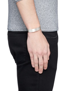Le Gramme 'Le 41 Grammes' brushed sterling silver cuff