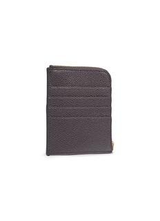 Thom Browne Pebble grain square leather zip wallet