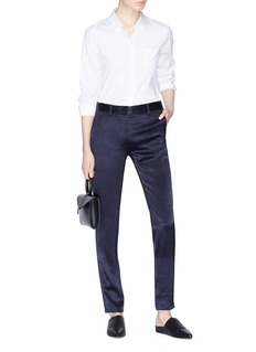 Theory Sateen boyfriend pants