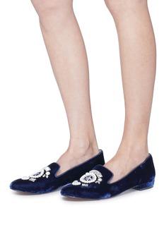Sam Edelman 'Josaphina' embellished velvet loafers