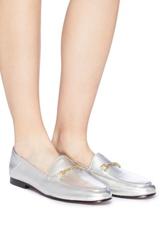 Sam Edelman 'Loraine' horsebit metallic leather step-in loafers