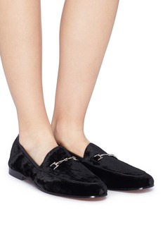 Sam Edelman 'Loraine' horsebit crinkled velvet step-in loafers