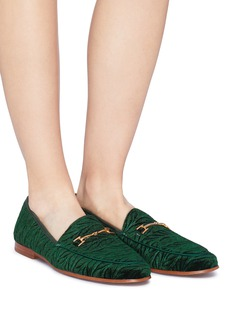 Sam Edelman 'Loraine' horsebit velvet step-in loafers
