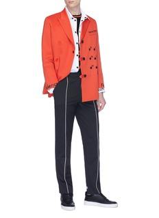 Staffonly Stripe slogan print pants