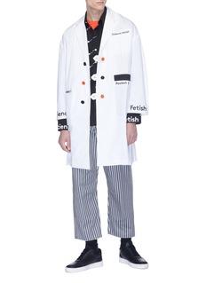 Staffonly Slogan print coat