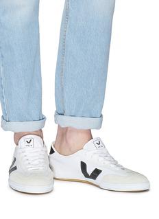 VEJA Volley绒面真皮拼接有机棉帆布运动鞋