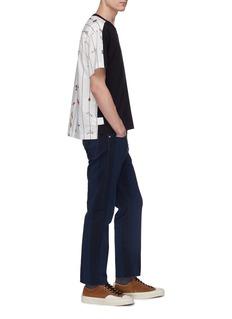 Marni Graphic stripe poplin back T-shirt