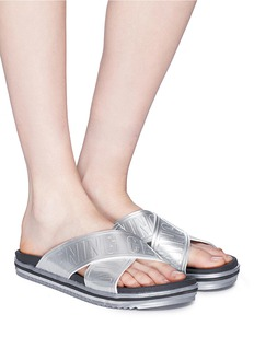Opening Ceremony 'Berkeley' logo cross strap slide sandals