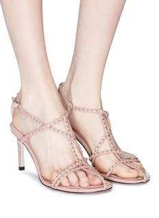 Pedder Red 'Carey' stud caged leather sandals