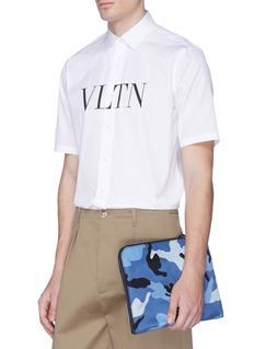 Valentino Camouflage print zip pouch