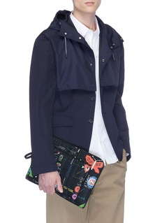 Valentino Arcade print quilted pouch