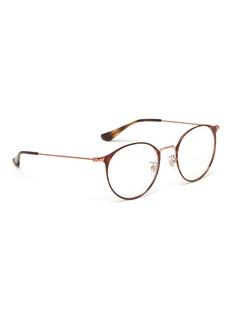 Ray-Ban 'RX6378F' tortoiseshell front metal round optical glasses